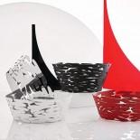 Barket Round Basket (Black) - Alessi