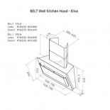 Belt 55 Wall Kitchen Hood - Elica