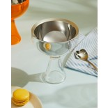 Big Love Ice Cream Bowl & Spoon (Stainless Steel) - Alessi