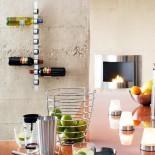 Cioso 8 Bottle Wall Mounted Wine Rack (Matt Steel) - Blomus
