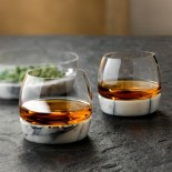 Chill Whisky Tumbler With Marble Base - Nude Glass