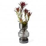City Vase Small (Smoke Glass) - Philippi