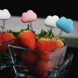 Cloud Party Picks Set of 6 (White / Pink / Blue) - Qualy