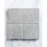 Athens Fragments Concrete Coasters (set of 4) - A Future Perfect