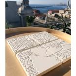 Athens Fragments White Concrete Coasters (set of 4) - A Future Perfect