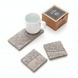 London Fragments Concrete Coasters (set of 4) - A Future Perfect