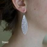 Cross-venulate Earrings (Black) - Nervous System