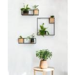 Cubist Small Wall Shelf (Black) - Umbra