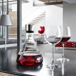DELTA Wine Decanting Carafe 2L (Clear / Steel) - Blomus