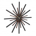 Diva Wall Clock (Black / Walnut) - Karlsson