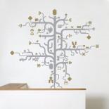Tree Gold Wall Sticker - Domestic