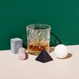 Drink Rocks Geometric Shapes Set of 4 (Multicolor)