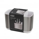 EasyStore™ Toothbrush Caddy Large (Stainless Steel) - Joseph Joseph