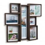 Edge Multi Wall Photo Display (Aged Walnut) - Umbra
