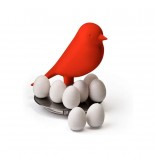 Egg Sparrow Magnetic Set (Red) - Qualy