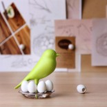 Egg Sparrow Magnetic Set (White) - Qualy