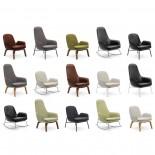 Era Leather Lounge Chair High (Metal) - Normann Copenhagen