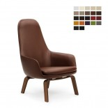 Era Leather Lounge Chair High (Wood) - Normann Copenhagen