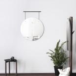 Exhibit Wall Mirror 24 Inch (Black) - Umbra