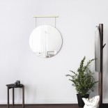 Exhibit Wall Mirror 24 Inch (Brass) - Umbra