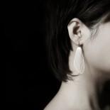 Fan Earrings M (Silver) - Moorigin