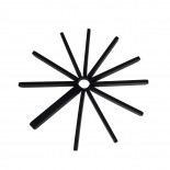 Fanfare Trivet Set of 2 (Black) - Umbra
