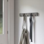FLIP 5 Hook Coat Rack (Grey / Pewter) - Umbra