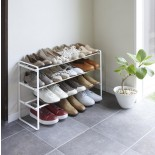 Frame 3-Tiered Expandable Shoe Rack (White) - Yamazaki