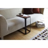 Frame C-Shaped Side Table (Black) - Yamazaki