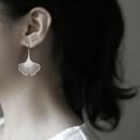 Ginkgo Earrings S (Silver) - Moorigin