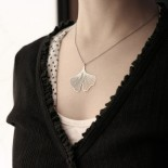 Ginkgo Pendant S (Silver) - Moorigin