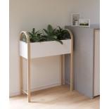 Bellwood Storage Planter (White / Natural) - Umbra