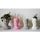Hacked Pencil Holder / Flower Pot (White) - A Future Perfect