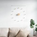 Hangtime Wall Clock (White / Natural) - Umbra