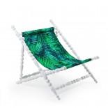 Heritage Foldable Deckchair Leave (White) - Seletti