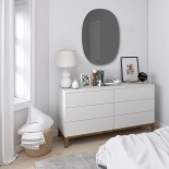Hub Beveled Wall Mirror Oval 91 x 61 cm (Smoke) - Umbra