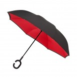 Inside Out Umbrella Double Layer Windproof (Black / Red) - Impliva