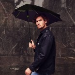 STORMaxi® Storm Umbrella Special Edition Black + Blue Frame - Impliva