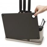 CounterStore™ Worktop Organiser & Chopping Board (Silver) - Joseph Joseph