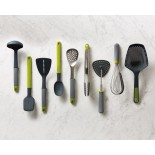 Elevate™ Silicone Steel Tongs (Grey / Green) - Joseph Joseph