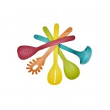 Nest™ Utensils Plus 5-piece Utensil Set With Holder (Multicolor) - Joseph Joseph