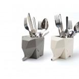 Jumbo Cutlery Drainer (Milky White) - Peleg Design