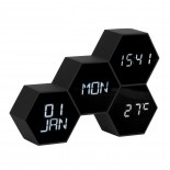 Six In The Mix Alarm Clock (Black) - Karlsson