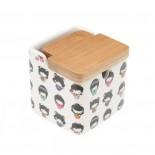 Kimono Sugar Bowl with Bamboo Lid  - Versa