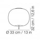 Kushi 33 Ceiling Lamp / Wall Lamp LED or E27 Option (Brass) - Kundalini