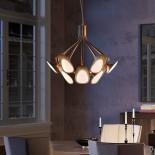 Peacock Suspension Lamp (Acid-Etched Brass) - Kundalini