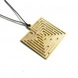 Knossos Labyrinth Square Pendant - A Future Perfect