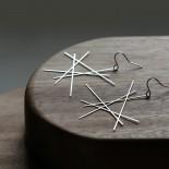 Line Earrings M (Silver) - Moorigin