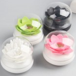 Lotus Cotton Bud / Toothpick Holder (White / Pink) - Qualy