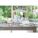 Vodka Serving Set and Oak Paddle 38.5 cm (Clear) - LSA
